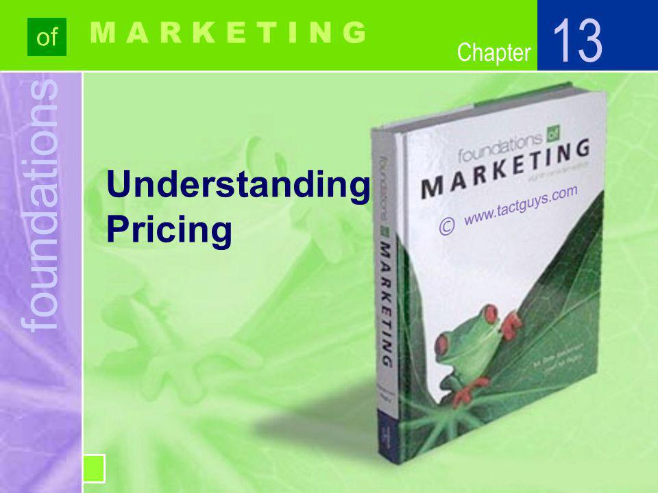 Chapter Markups Amount added to Cost (the Markup) Selling Price Amount added to Cost (the Markup) Cost Understanding Pricing 13 13-19 Markup Percentage on Selling Price= Markup Percentage on Cost=