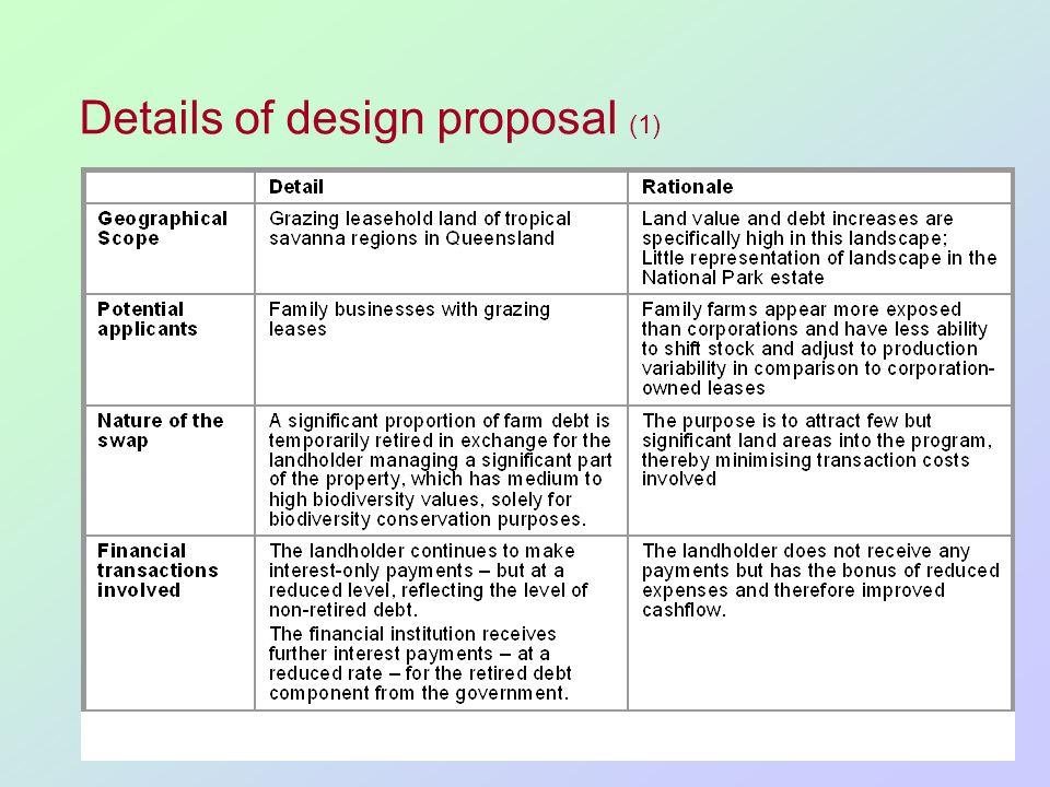 Details of design proposal (1)