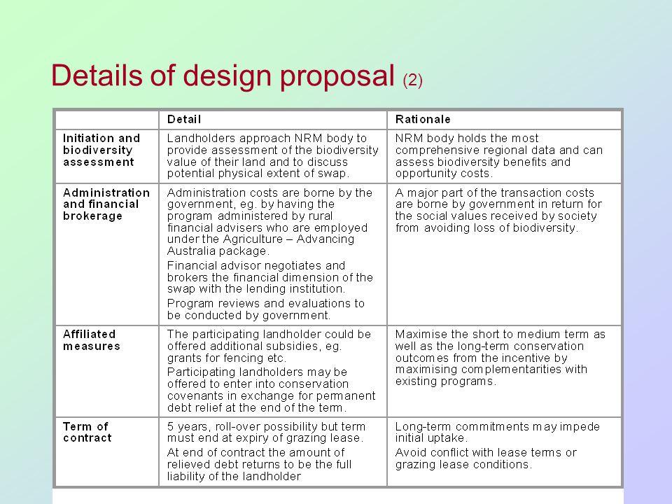 Details of design proposal (2)