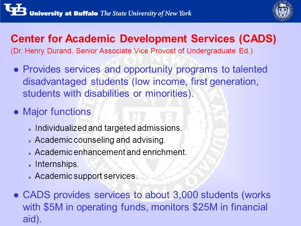 Center for Academic Development Services (CADS) (Dr.