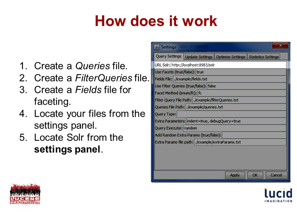How does it work 1.Create a Queries file. 2.Create a FilterQueries file.