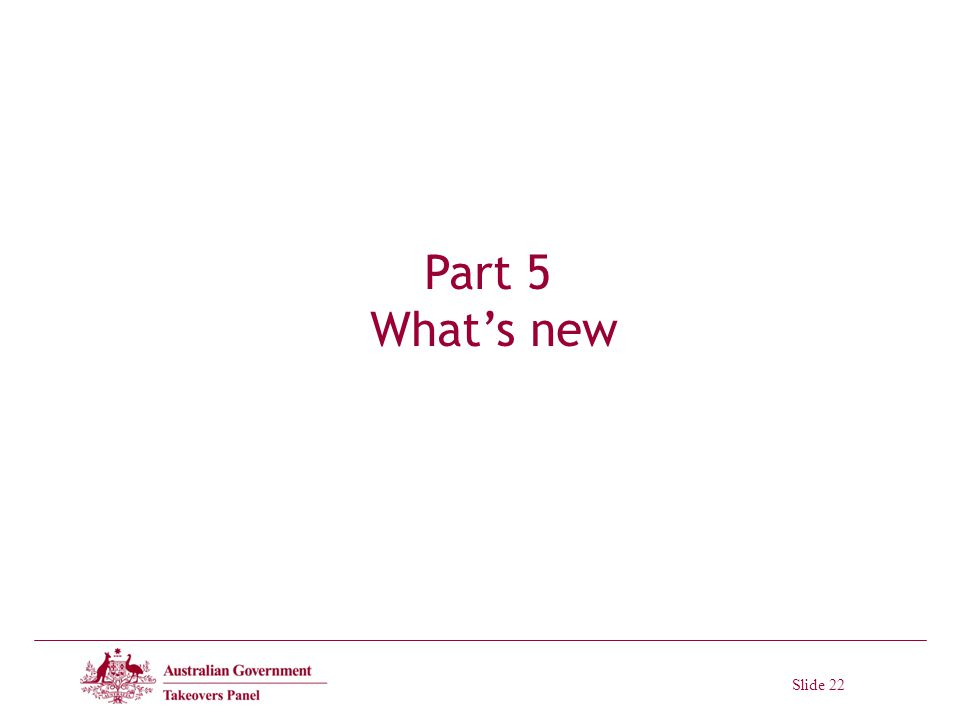 Slide 22 Part 5 Whats new