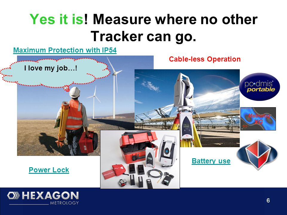 6 Yes it is. Measure where no other Tracker can go.