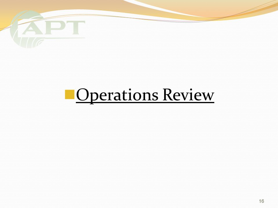 Operations Review 16