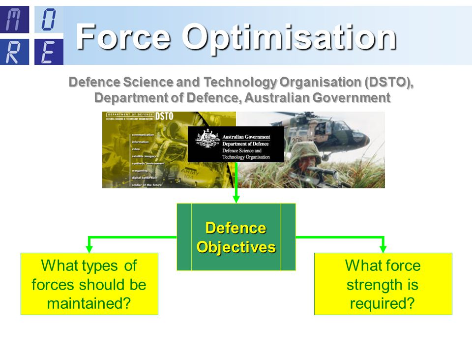 Defence Objectives What types of forces should be maintained.