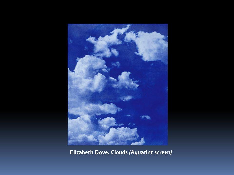 Elizabeth Dove: Clouds /Aquatint screen/