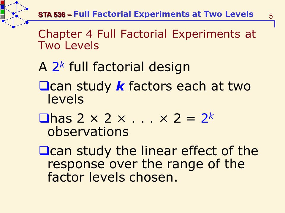 26 STA 536 – STA 536 – Full Factorial Experiments at Two Levels