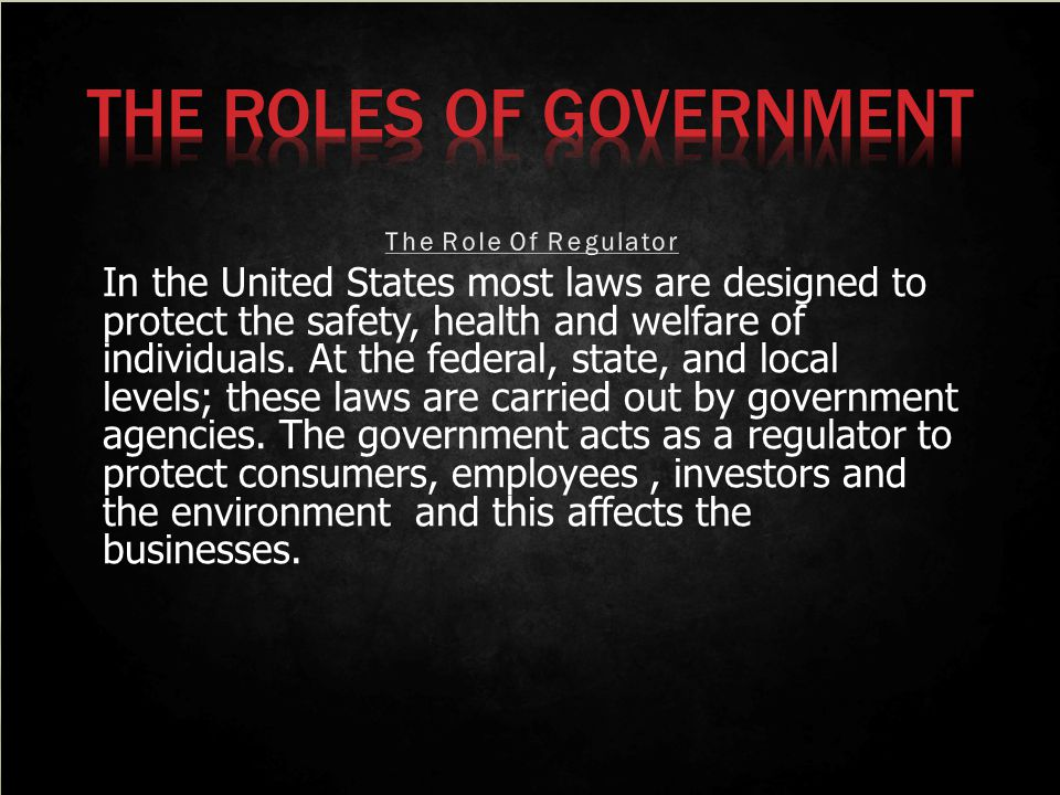 At the state and local levels, government agencies are involved with consumer protection.