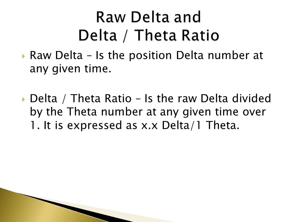 Raw Delta – Is the position Delta number at any given time. Delta / Theta Ratio – Is the raw Delta divided by the Theta number at any given time over