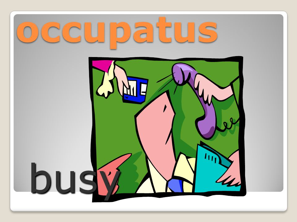 occupatus busy