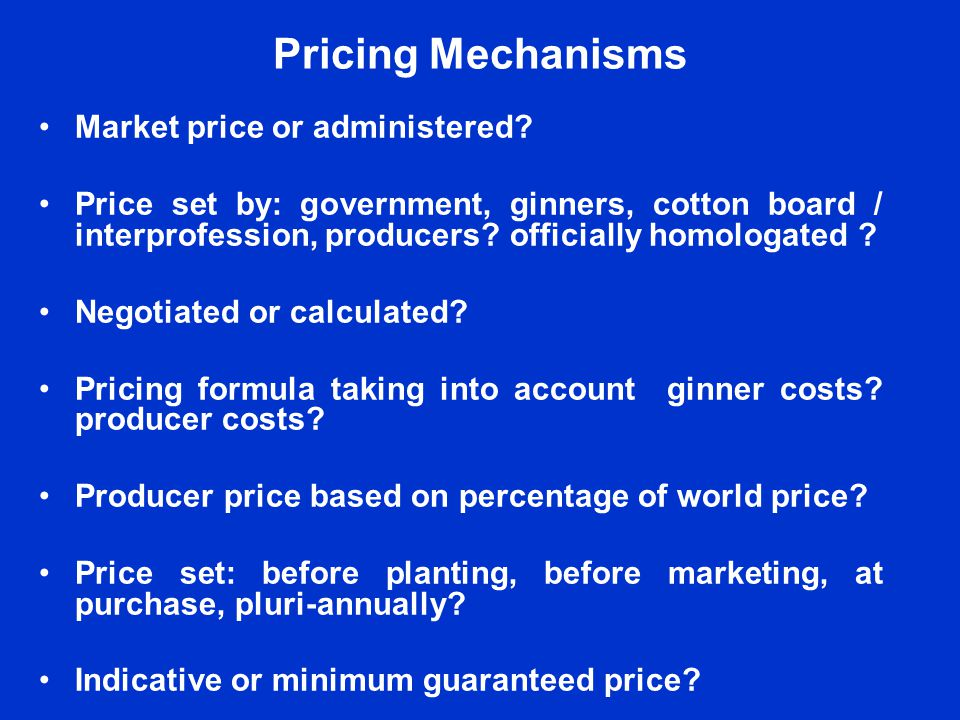 No Perfect Reference for Cotton Prices Cotlook A Index based on quotations from merchants not on actual prices of sales to spinners.
