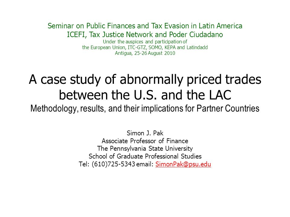 A case study of abnormally priced trades between the U.S.