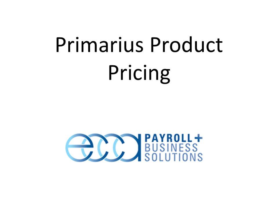 Primarius Product Pricing