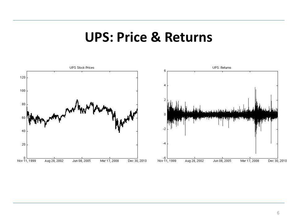 UPS: Realized, Bipower Volatility 7