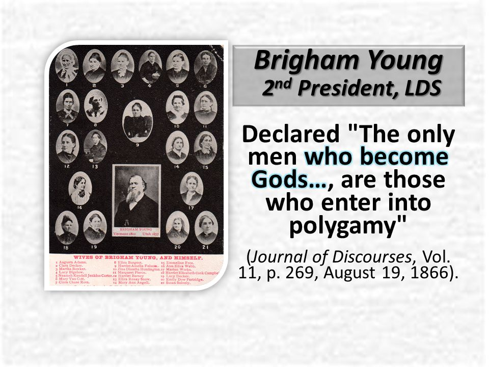 Brigham Young 2 nd President, LDS