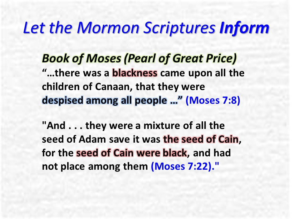 Let the Mormon Scriptures Inform