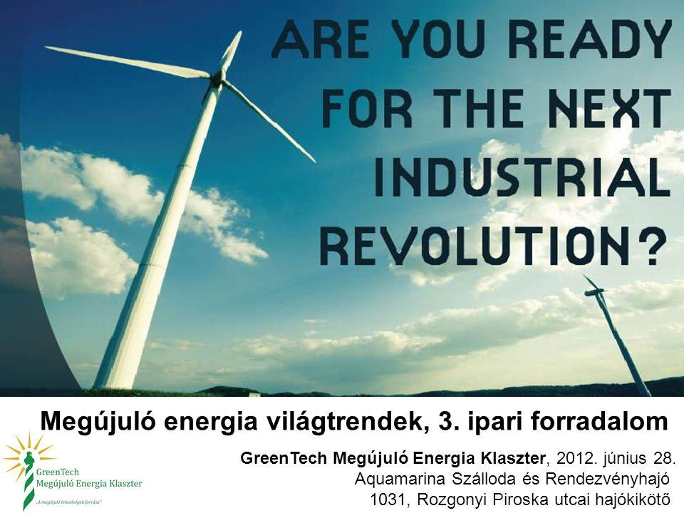 Megújuló energia világtrendek, 3. ipari forradalom GreenTech Megújuló Energia Klaszter, 2012. június 28. Aquamarina Szálloda és Rendezvényhajó 1031, R