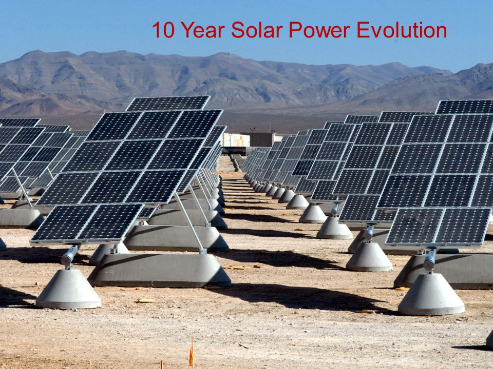 10 Year Solar Power Evolution