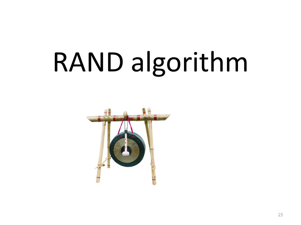 RAND algorithm 25