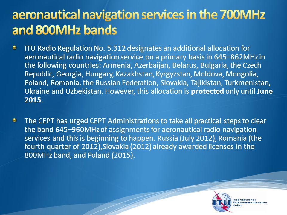 ITU Radio Regulation No.