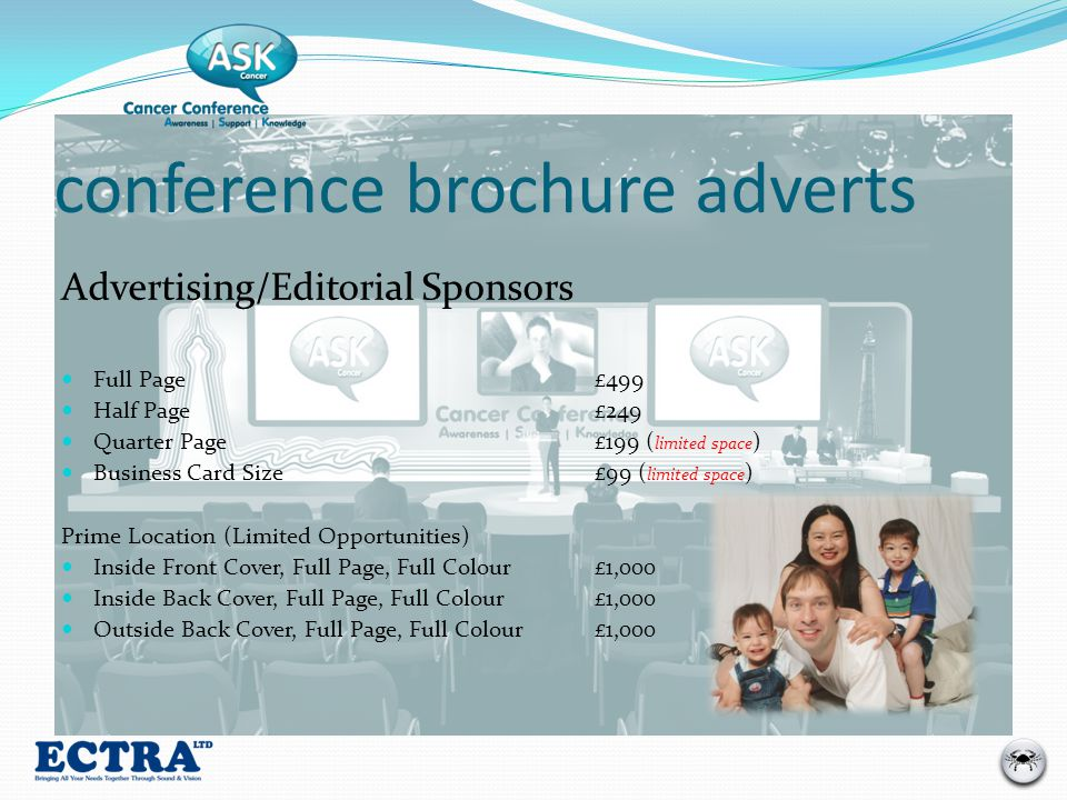 conference brochure adverts