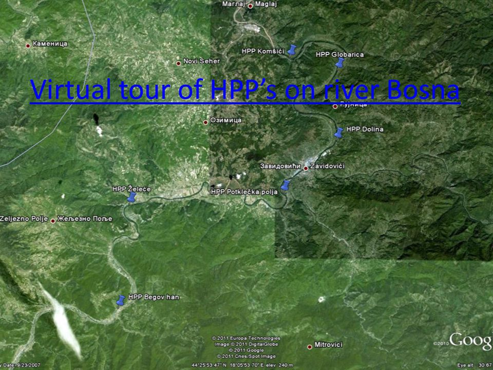 Virtual tour of HPPs on river Bosna