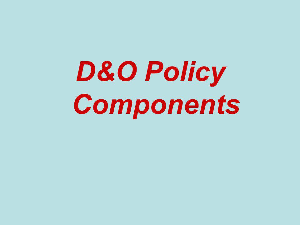 D&O Policy Components