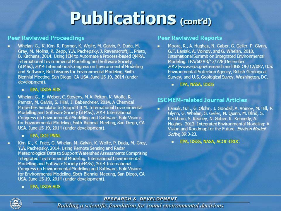 Publications (contd) Peer Reviewed Proceedings Whelan, G., K.