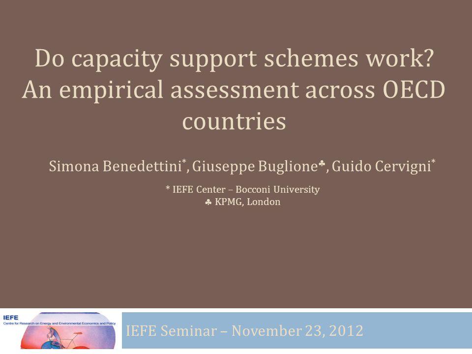 Do capacity support schemes work.