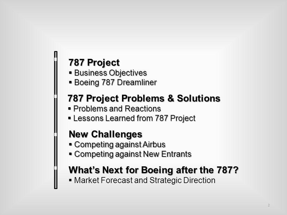 Lessons Learned from 787 Project Huge volume of sales Proves the customer oriented approach based on Customer Knowledge is the right thing to do.
