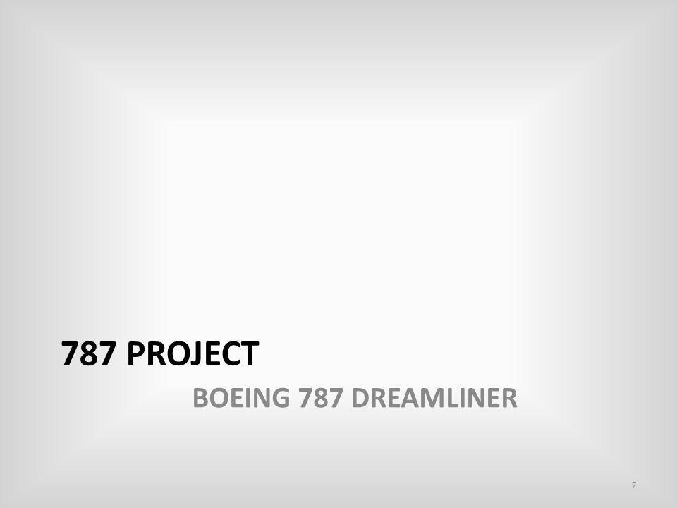 Boeing 787 Dreamliner By launching 787, Boeing aimed at obtaining market leadership under changing Environment.