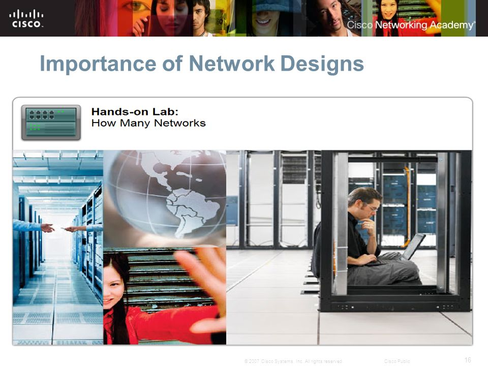 16 © 2007 Cisco Systems, Inc. All rights reserved.Cisco Public Importance of Network Designs