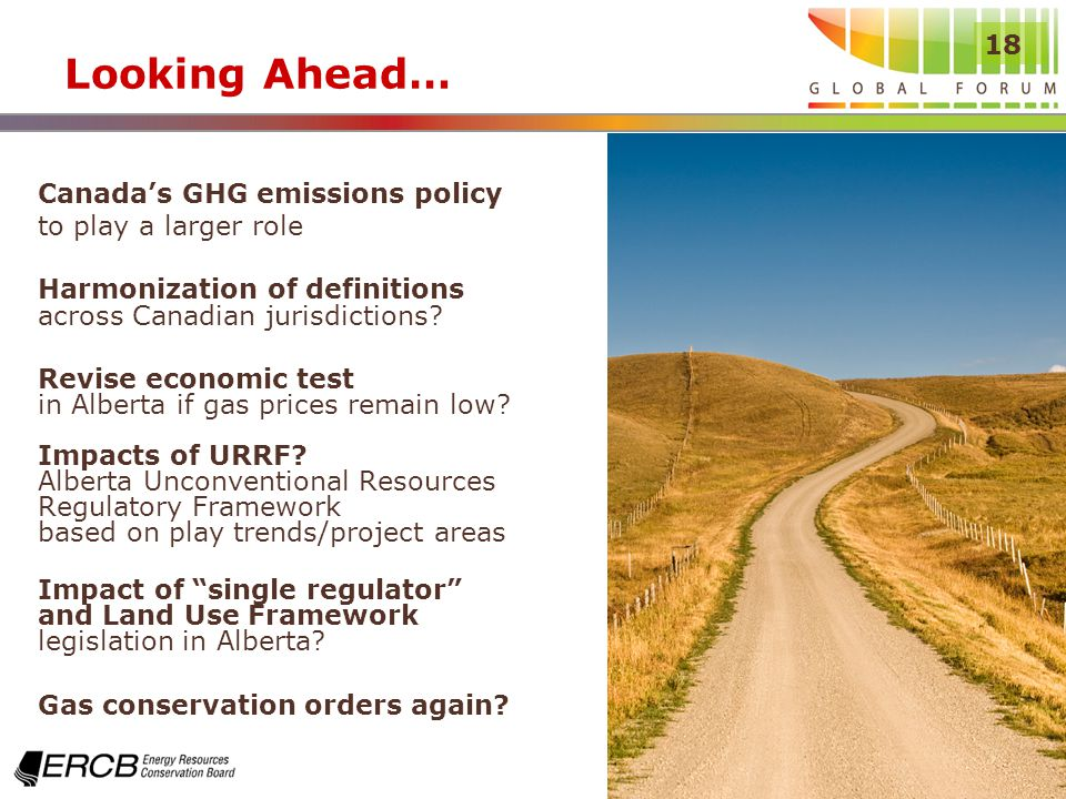 18 Looking Ahead… Canadas GHG emissions policy to play a larger role Harmonization of definitions across Canadian jurisdictions.