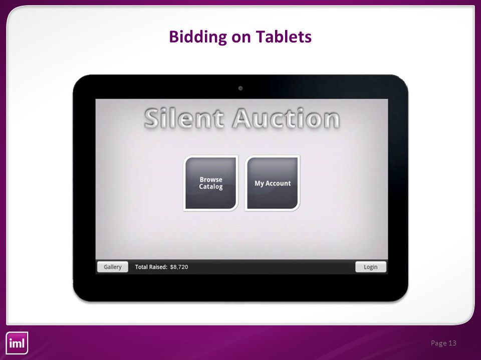 Page 13 Bidding on Tablets