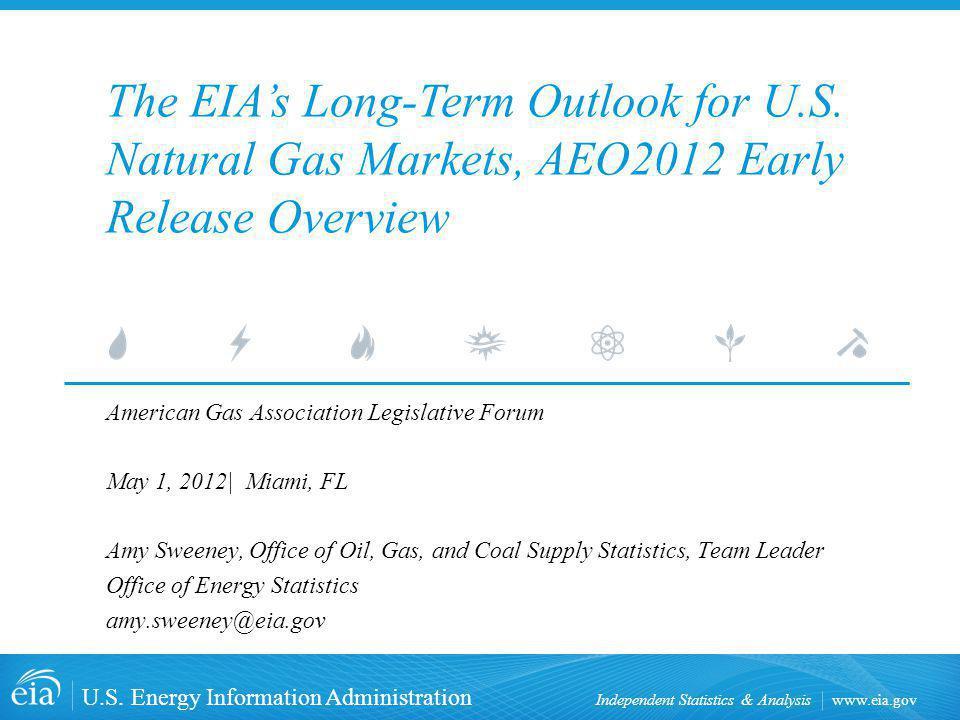 www.eia.gov U.S. Energy Information Administration Independent Statistics & Analysis American Gas Association Legislative Forum May 1, 2012| Miami, FL