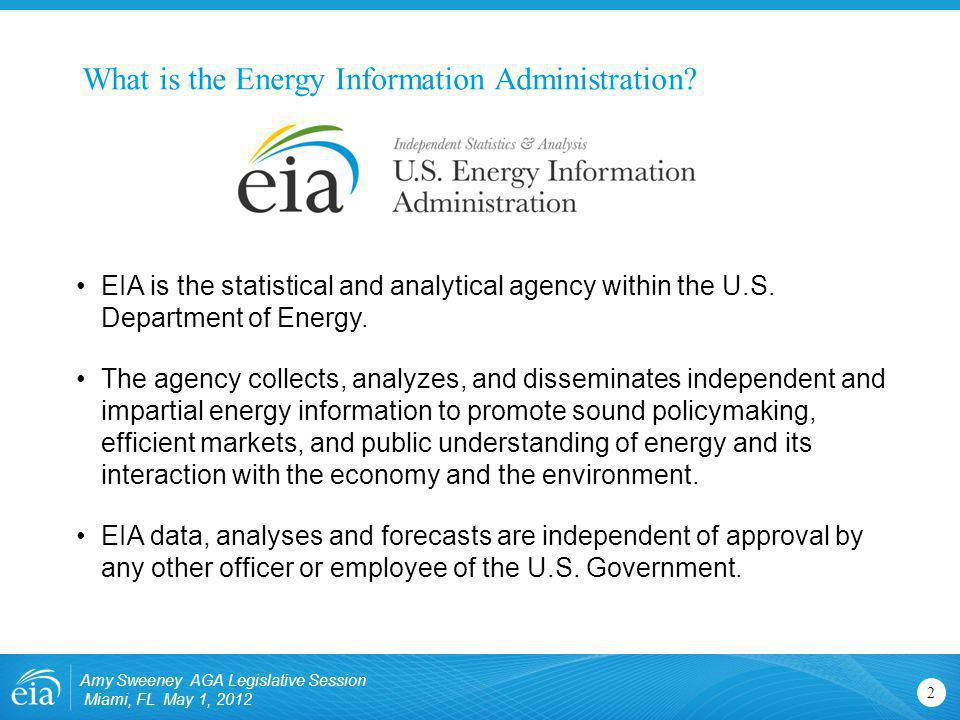 Natural gas data available from EIA EIA publishes data on gas production and consumption on a monthly and annual basis and storage on a weekly, monthly, and annual basis.