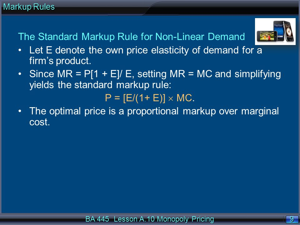 20 Block Pricing BA 445 Lesson A.10 Monopoly Pricing Block Pricing