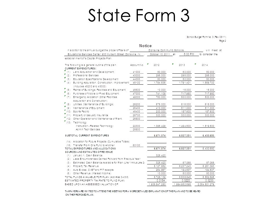 State Form 3