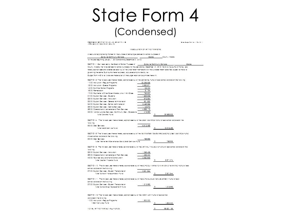 State Form 4 (Condensed)