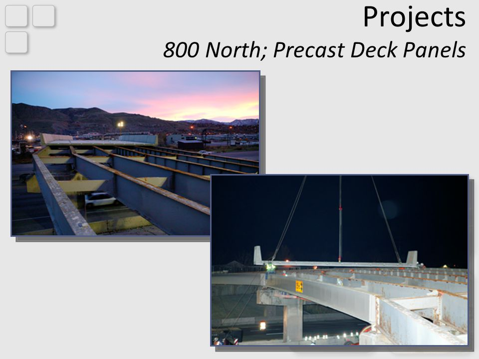 Projects 800 North; Precast Deck Panels