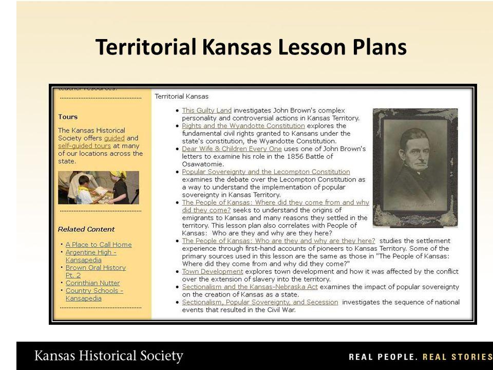 Territorial Kansas Lesson Plans