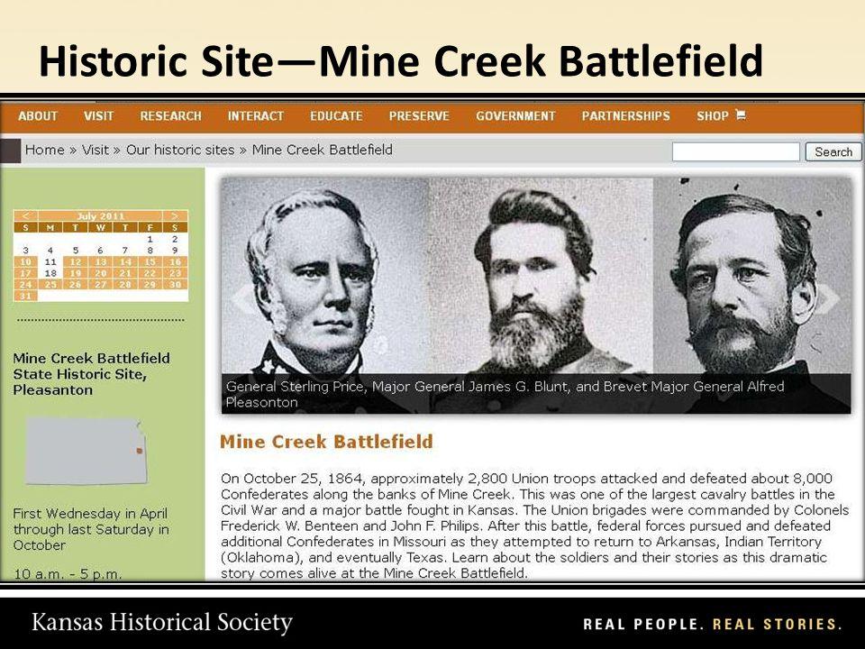 Historic SiteMine Creek Battlefield