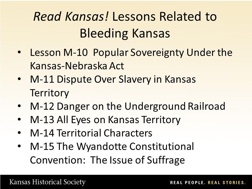 M-13 All Eyes on Kansas Territory Lesson Plan