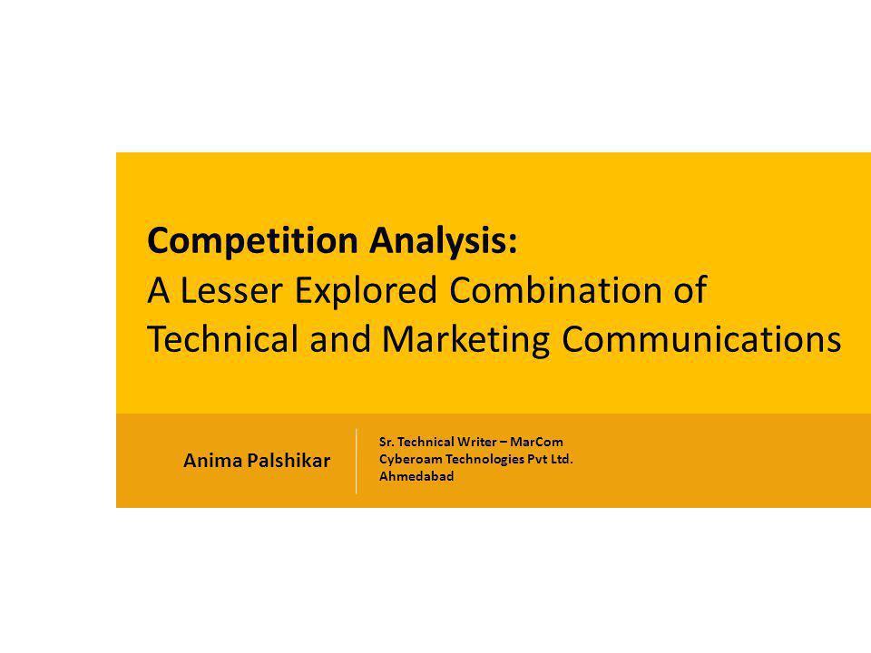 Anima Palshikar Sr. Technical Writer – MarCom Cyberoam Technologies Pvt Ltd.