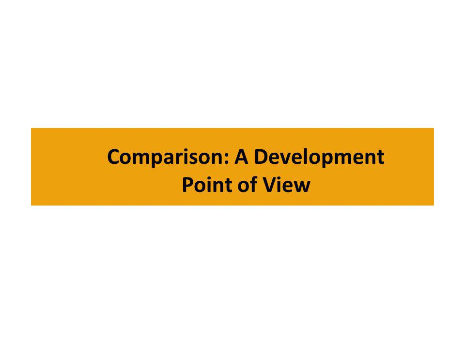 Comparison: A Development Point of View