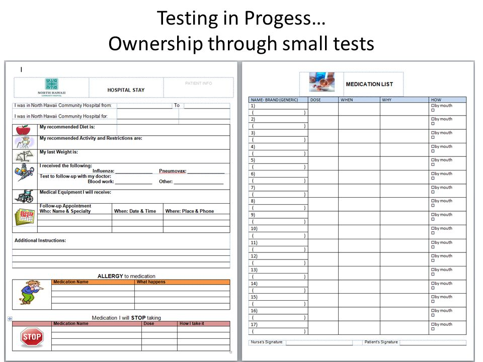 Testing in Progess… Ownership through small tests