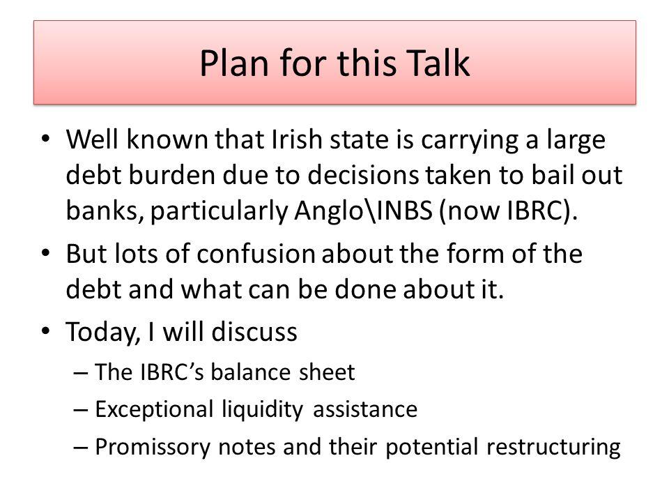 The IBRCs Balance Sheet