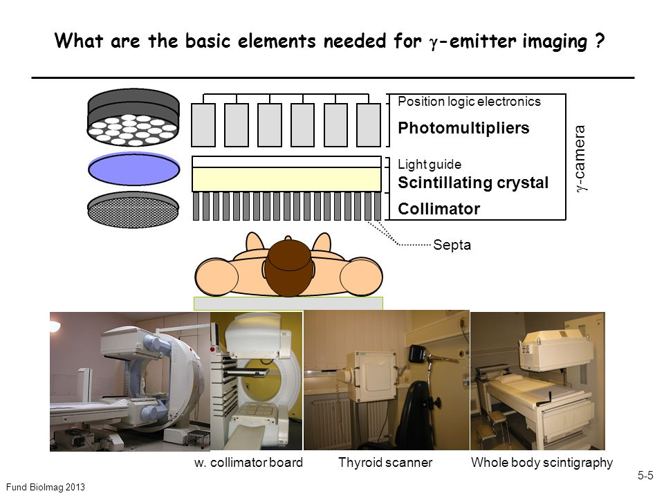 Fund BioImag 2013 5-5 What are the basic elements needed for -emitter imaging .