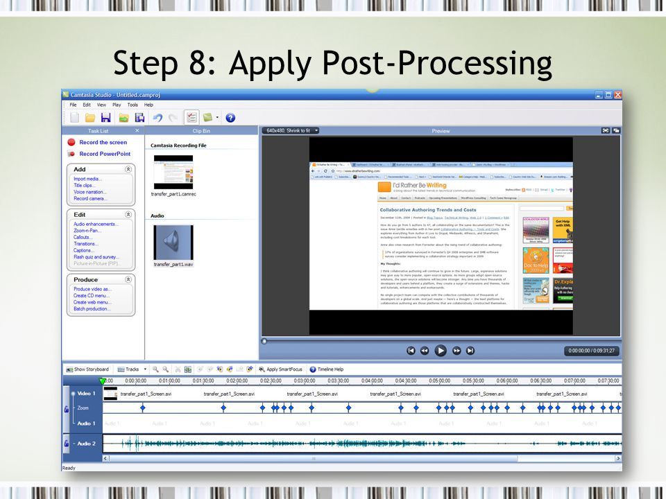 Step 8: Apply Post-Processing