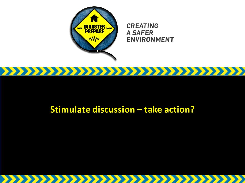 w Stimulate discussion – take action